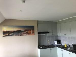 Küche/Küchenzeile in der Unterkunft Driemaster