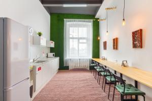 A kitchen or kitchenette at Capsule Hostels Rus-Kitay-gorod