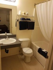 A bathroom at Blue Belle Motel