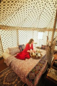 A bed or beds in a room at Starwatching Private Camp