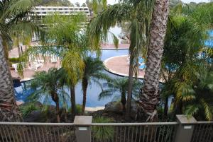A view of the pool at 37D Cypress Drive Mulwala or nearby