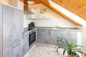 A kitchen or kitchenette at Ferienhof Bohg