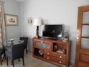 Una televisión o centro de entretenimiento en Apartamento Ronda