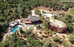 A bird's-eye view of Clos Apalta Residence Relais & Chateaux