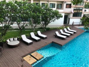 The swimming pool at or close to The Grand Napat