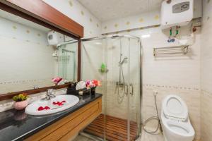 Salle de bains dans l'établissement Sapa Elegance Hotel