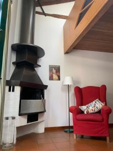 Ein Sitzbereich in der Unterkunft Le Residenze dei Serravallo