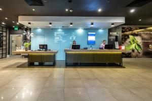 The lobby or reception area at ibis Kiev City Center