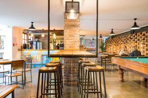 O lounge ou bar de Masaya Hostel Quito