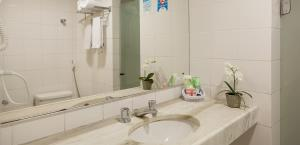 A bathroom at Hotel Euro Suit Boa Viagem