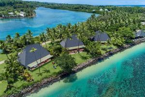 A bird's-eye view of Shangri-La's Fijian Resort & Spa