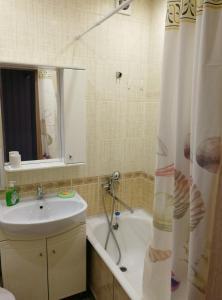 A bathroom at Apartment on Strel'nikova