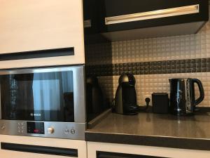 A kitchen or kitchenette at Апартаменты-люкс, Планерная