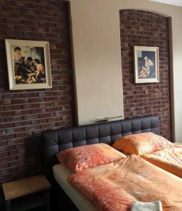 Postel nebo postele na pokoji v ubytování Pension Ulrika