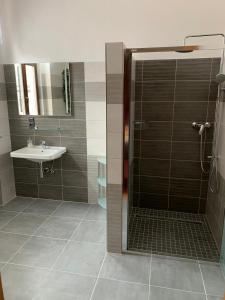 Koupelna v ubytování Pension Ulrika