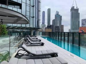 The swimming pool at or near Melbourne City 1 Bed A Perfect Tranquil Sanctuary