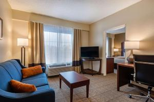 A television and/or entertainment centre at Comfort Suites Downtown