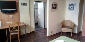 TV a/nebo společenská místnost v ubytování Hotel Atrium Varnsdorf