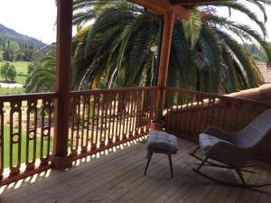 A balcony or terrace at Hotel Parador Vichuquen
