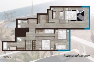 The floor plan of C&B RUBENS LUXURY MAR