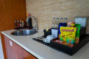 A kitchen or kitchenette at Maca Villas and Spa