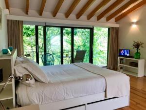Uma cama ou camas num quarto em Quinta Lamosa Agroturismo