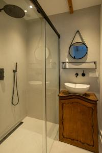 Een badkamer bij Studio Haarlemenmeer