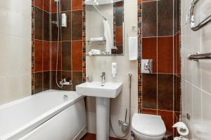 A bathroom at Hotel Nikol