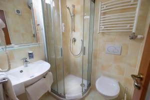Salle de bains dans l'établissement Hotel Petr