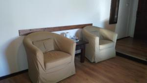 A seating area at Bed and Breakfast Tvrz