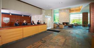 The lobby or reception area at The Penn Stater Hotel and Conference Center