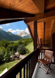 Een balkon of terras bij QC Termemontebianco