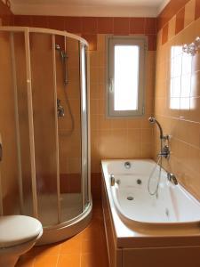 Koupelna v ubytování Hotel Cleofe