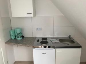 A kitchen or kitchenette at Apartmenthaus Seestern