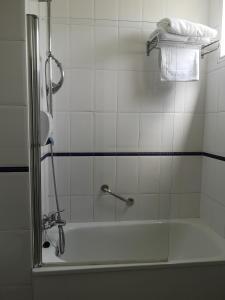 A bathroom at Hotel Veracruz