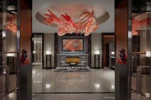 The lobby or reception area at Mandarin Oriental Wangfujing, Beijing