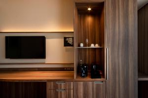 A television and/or entertainment center at karaksa hotel premier Tokyo Ginza