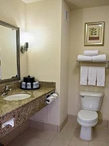 A bathroom at Holiday Inn Express Hotel & Suites Chicago Airport West-O'Hare