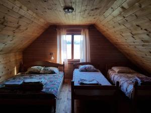 Gulta vai gultas numurā naktsmītnē Pirmie Zaļmeži