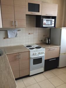 Кухня или мини-кухня в Апартамент в центре Бердска