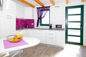Kuchyň nebo kuchyňský kout v ubytování Holiday home Nina