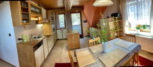 Kuchyň nebo kuchyňský kout v ubytování Ubytování U Přehrady