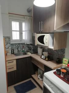 A kitchen or kitchenette at Elpidos Park