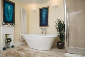 A bathroom at Sacred Garden Retreat