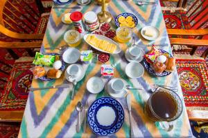 Breakfast options available to guests at Furkat Guest House