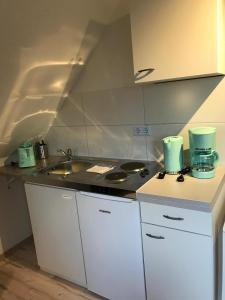 Virtuvė arba virtuvėlė apgyvendinimo įstaigoje Kleine Möwe
