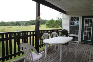 A balcony or terrace at Forest Haven Inn