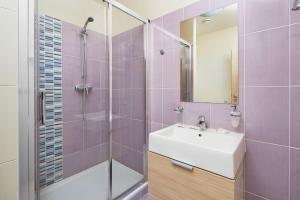 Kúpeľňa v ubytovaní Wellness hotel Javorník