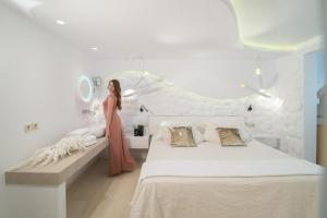 Ένα ή περισσότερα κρεβάτια σε δωμάτιο στο Spiros