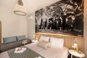 Кровать или кровати в номере Sofia Hotel
